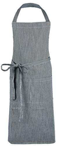 ZOLLNER Kochschürze verstellbar aus Baumwolle, 75x100 cm, schwarz/weiß (UVM.)