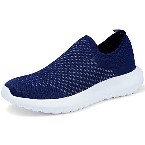 LANCROP Women's Sock Walking Shoes - Comfortable Slip on Easy Office Sneakers 5.5 M US, Label 36 Navy