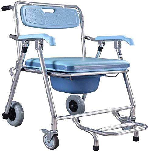 Lichtgewicht rolstoel Opvouwbare rolstoeldouche Nachtkast Commode Stoel Gestoffeerde zitting