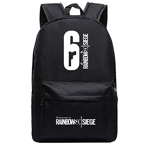 Canvas Printing Military Men Rucksack Spiel Tom Clancy's Rainbow Six Siege Reisetasche Unisex Student Laptop School Schultertasche (1)