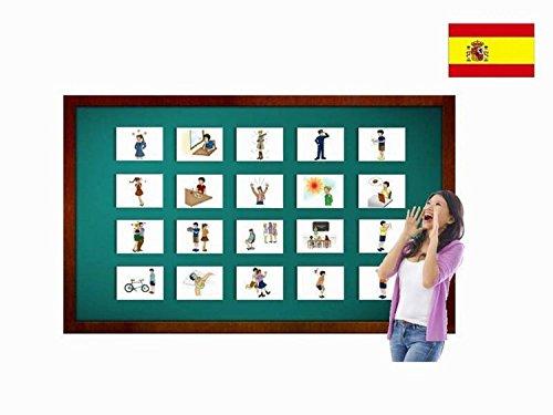 Yo-Yee Flashcards Tarjetas con Ilustraciones para el fomento del Aprendizaje del Idioma - Sentimientos - para Las Clases de españolen guarderías, escuelas Infantiles y educación Primaria