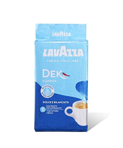 Lavazza Caffè Macinato Decaffeinato Dek Classico - 10 confezioni da 250 grammi [2.5 Kg]