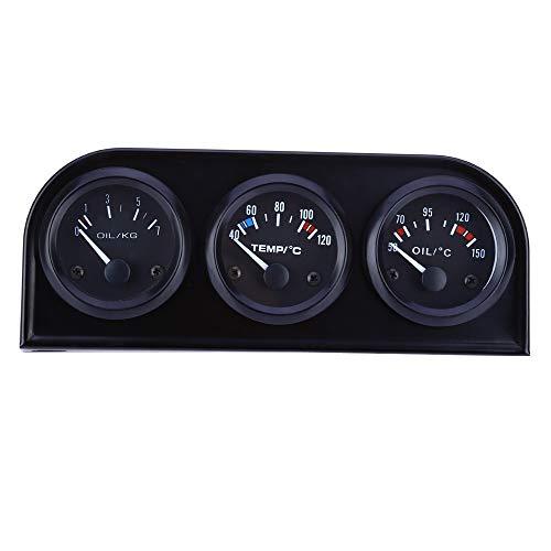 LANZHEN-Car Instruments Auto LKW Boot 52 MM 3 In 1 Kombination Auto Meter Auto Manometer Wassertemperatur Öldrucksensor Triple Kit Autoteile