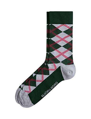 Bjorn Borg Men's Bb Square Socks Unisex Grey in size 41-45