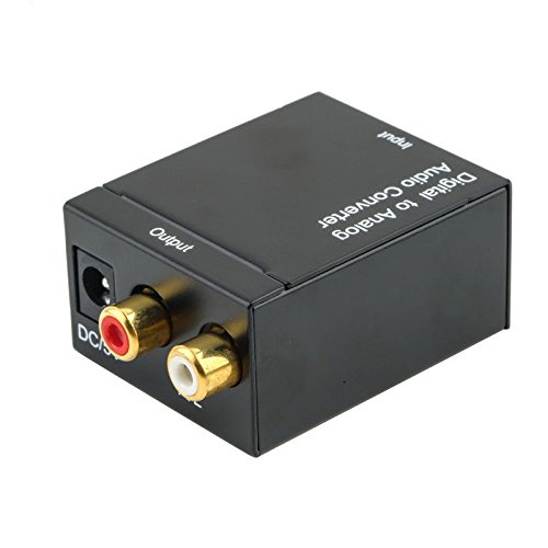 SODIAL Digital Optico Toslink SPDIF Coaxial a Analogico RCA Adaptador conversor de Audio con Cable de Fibra