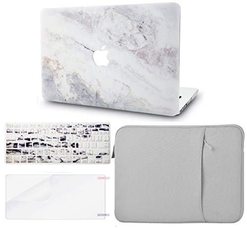 KECC MacBook Air 13 Retina (2020, Touch ID) Pulgadas Funda Dura Case w/EU Cubierta Teclado + Lamina Protectora + Manga MacBook Air 13.3 Ultra Delgado Plástico {A2179} (Mármol Blanco 2)