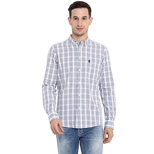 Red Tape Men's Checkered Regular fit Casual Shirt (RFS0127_Dark Grey M)