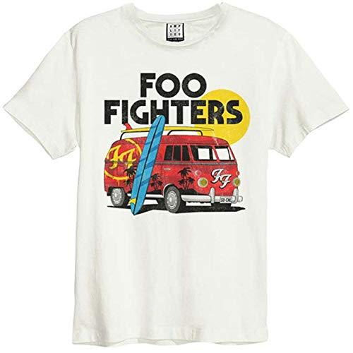 Amplified Foo Fighters Camper Van - Maglietta da Uomo Vintage Bianco S