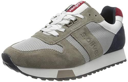 s.Oliver Herren 5-5-13614-24 Sneaker, Grau (Grey Comb 201), 43
