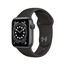 AppleWatch Series6 (GPS, 40mm) Aluminiumgehäuse Space Grau, Sportarmband Schwarz©Amazon