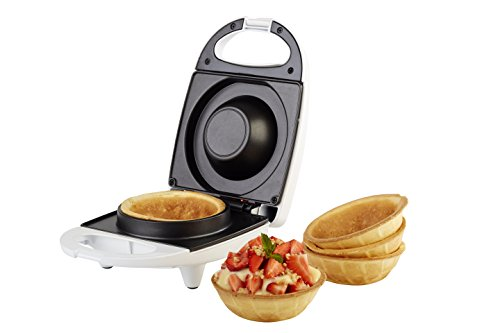 Korona 41010 Waffelcup-Maker für 10 cm Durchmesser - Waffeleisen Waffel Toaster Weiß