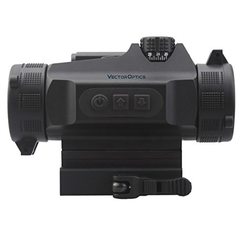 VectorOpticsNautilus1x30戦術的な赤い点の範囲視力デジタルスイッチによる自動光の感覚色黒