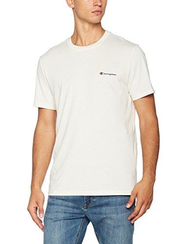 Champion Herren - Classic Small Logo T-shirt - Dunkelweiß - L