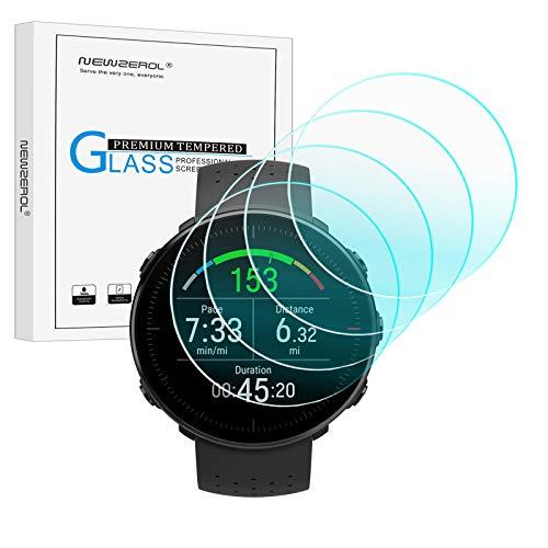 NEWZEROL 4 Pièces Compatible pour Polar Vantage M Protecteur D'écran Anti-Balles Haute Définition en Verre Trempé Résistant aux Rayures sans Bulles Transparent Film De Protection
