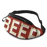 mengmeng Bolsa de cintura con patrón de cerveza retro para correr, para hombres y mujeres, unisex, bolsa de cinturón ajustable, para entrenamiento al aire libre, senderismo, regalos