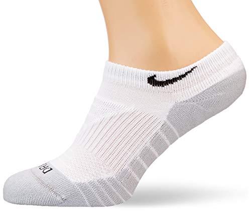 Nike Unisex Everyday Max Cushioned No-Show Trainingssocken (3 Paar), White/Wolf Grey/Black, M