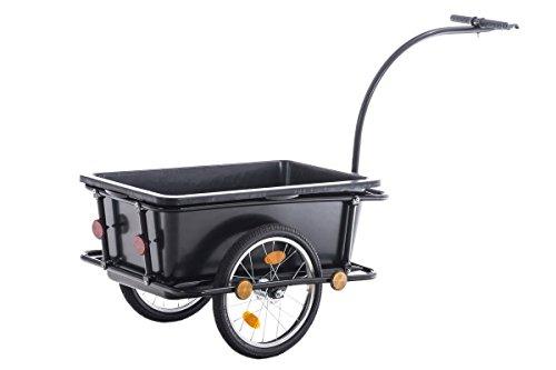 CLP Remolque para Bicicletas Lenny, con pértigo y acomplamiento Giratorio Negro