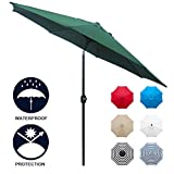 Sunnyglade 9' Patio Umbrella Outdoor Table Umbrella with 8 Sturdy Ribs...