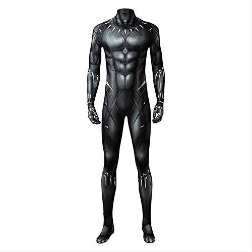 Adult Black Muscle Battle Suit Costume Halloween Cosplay Costume Black Zentai Jumpsuit
