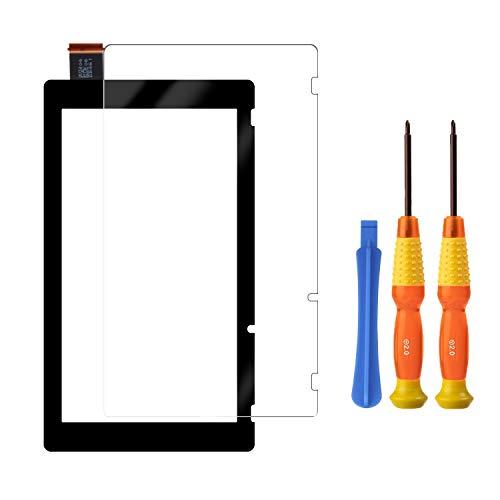 Pantalla táctil digitalizador Panel de vidrio piezas de repuesto para Nintendo Switch con protector de pantalla de vidrio templado y herramienta de instalación