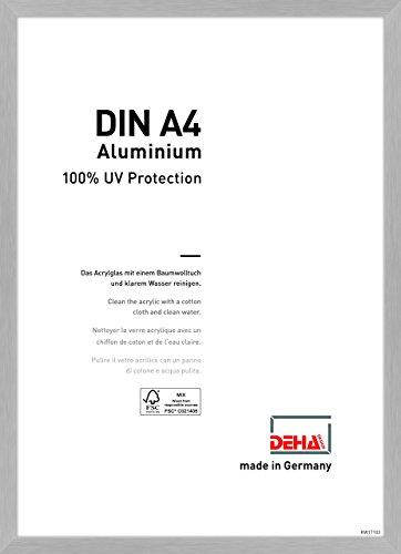 DEHA Aluminium Bilderrahmen Tribeca, 21x29,7 cm (A4), Struktur Silber Matt