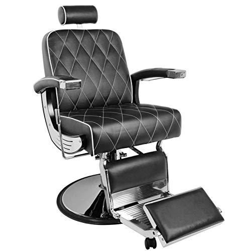 GABBIANO -Imperial Poltrona da barbiere BarberPub Poltrona reclinabile idraulica Salone di bellezza