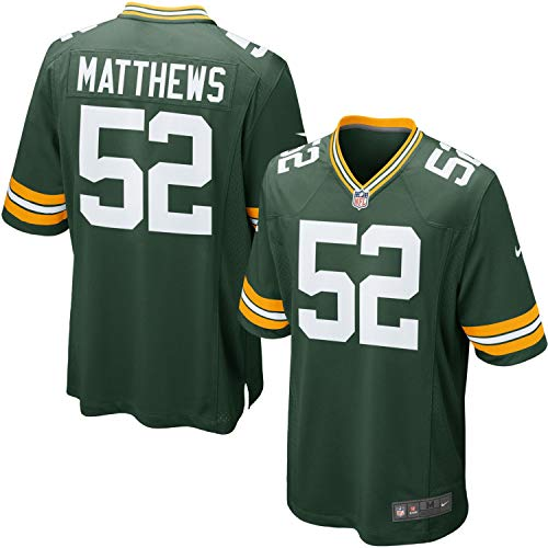 NIKE New Green Bay Packers Clay Matthews Youth Boys Home Jersey Size Large 14/16, L, LG