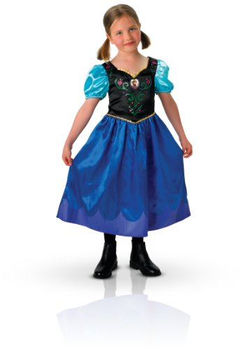 Rubie's 3 889543 S - Anna Classic, Frozen kostuum, maat S, donkerblauw