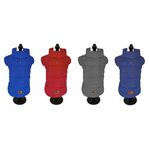 BRAVO. Abrigo para Perro. Chaqueta Impermeable Resistente al Agua y al Viento con Forro Interior de algodón Suave y cálido para Perros medianos (Talla S, M, L, XL). (Talla M, Rojo)