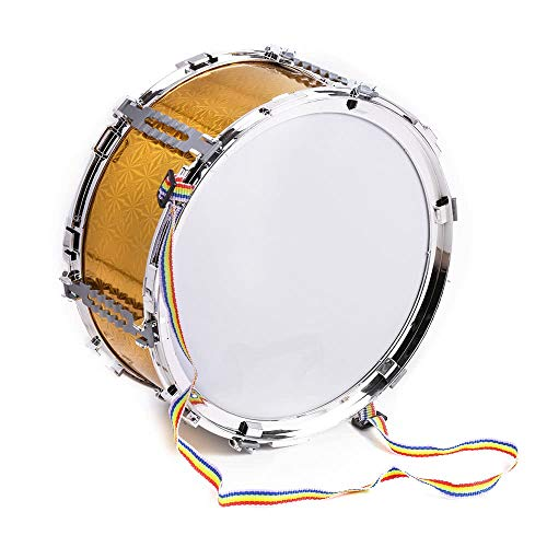 Bunte Jazz Snare Drum Musical Spielzeug Percussion Instrument mit Drum Sticks Strap für Kinder Kinder (Farbe: Golden)