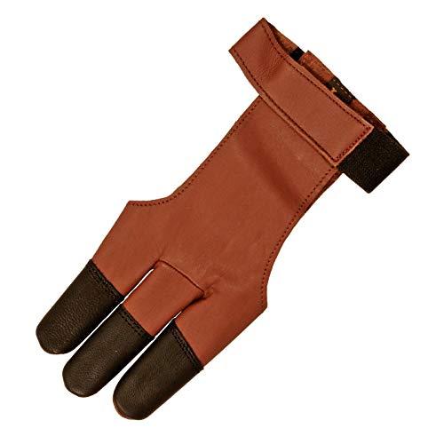 elToro Guante de tiro tradicional, color marrón y negro, talla L