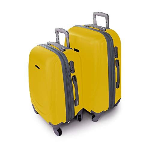 PAYMA - Juego Maletas Viaje 2-3 Piezas. Maleta Pequeña 20'(55x35x20) + Mediana 24'(65x45x25) + Grande 28'(75x50x28). ABS, Rígidas, Resistentes y Manejables con 4 Ruedas. Cierre de Combinación