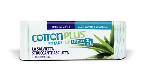 Cotton Plus SMAKE-UP ALOE VERA MINI 60 pz. | STRUCCANTE NATURALE! Salviette struccanti asciutte brevettate, senza conservanti, 100% naturali!