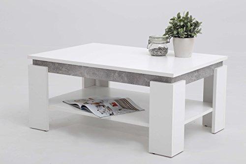 Avanti Trendstore - Tommi - Couchtisch mit 1 Ablage, in 2 verfügbar, BHT ca. 90x41x60 cm (Weiß)