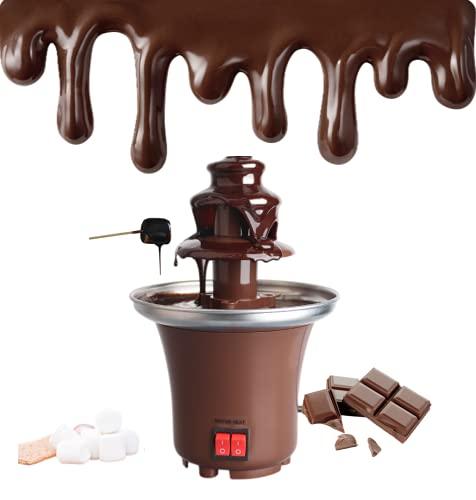 3 Tier Chocolate Fondue Fountain Machine, Electric Chocolate Melting Fountain Machine, 1.5-Pound Capacity, Easy to Assemble, Perfect for Nacho Cheese, BBQ Sauce, Ranch, Liqueurs