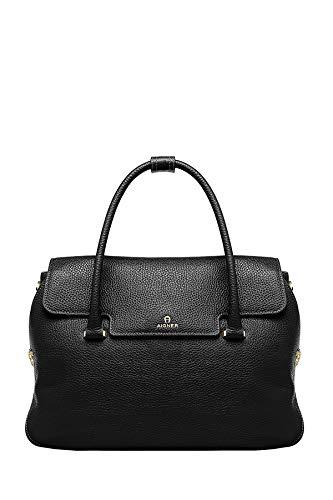 Aigner Damen Handtasche Milano L Schwarz