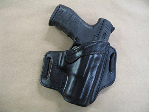 H&K Heckler & Koch VP9, VP40 Leather 2 Slot Molded Pancake Belt Holster BLACK RH