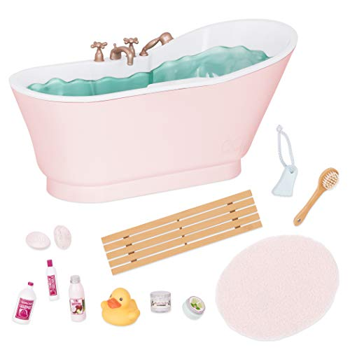 Our Generation by Battat- Bath & Bubbles Deluxe Set for 18' Dolls- Toy, Doll & Accessories for 18' Dolls- Ages 3 Years & Up