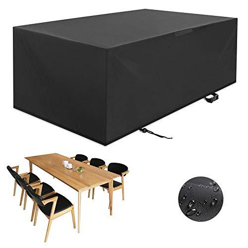 Copertura per tavolo e sedie da giardino nero, rivestimento per mobili da esterno Oxford impermeabile e traspirante (Size : 135 * 135 * 75CM)