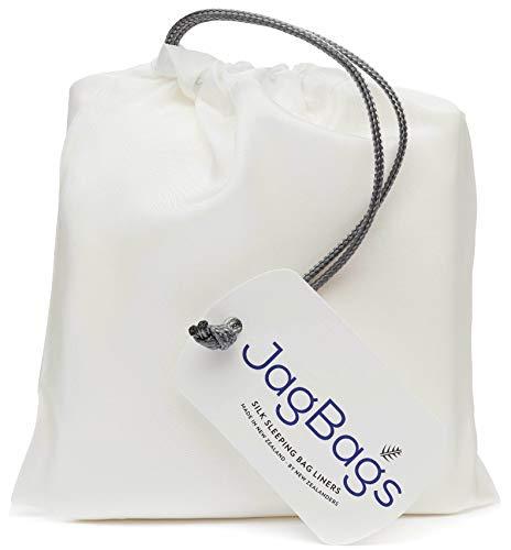 JagBag Deluxe Ideal Schlafsack Liner aus Reiner Seide (White)