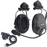ZTAC: Z-Tactical ZSordin Headset (Z111-BK) + Adattatore girevole rapido (Z148) + U94 PTT Kenwood Push to Talk (Z113-KEN) Collezione audio con cancellazione del rumore G: 1 Non-Mil-Spec