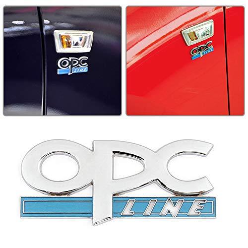 L&U Nuevo Metal 3D OPC Line Coche del Emblema de la Cola Lateral Fender Placa Delantero de la Parrilla Pegatina para Opel Coche-Labra de Metales