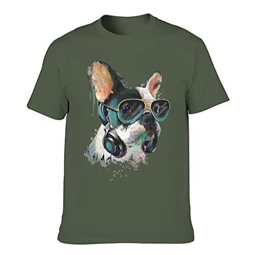XunYun French Bulldog - Gafas de sol de acuarela con varios patrones de manga corta y cuello redondo, para padre, madre, hijo, hija
