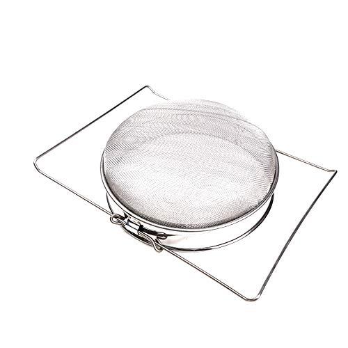 OTENGD La Miel del colador Doble tamiz Acero Inoxidable colador de Malla de la Pantalla de la Apicultura Equipo Filtro Filtro de Grado alimenticio para la Miel procesamiento extracción y Filtro