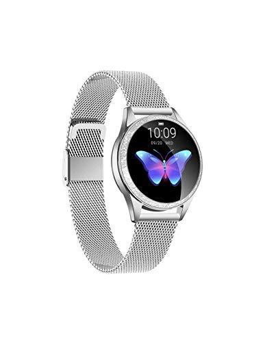 Roneberg rkw20 Reloj inteligente para mujer con rastreador de actividad 9 modos de entrenamiento a elegir (plateado)