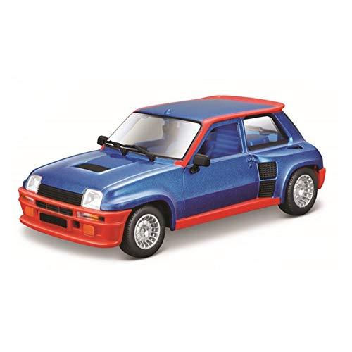 Maqueta de Coche a Escala 1:24 para Renault 5 Modelo De Fundición A Presión Turbo Coche De Carreras Aleación Vehículo Escala Coches Modelo Juguete Colección Regalo Decoración Educación (Color : 1)