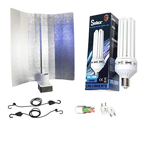 Kit de iluminación bajo consumo 200W CFL Solux Crecimiento + Reflector Pearlpro