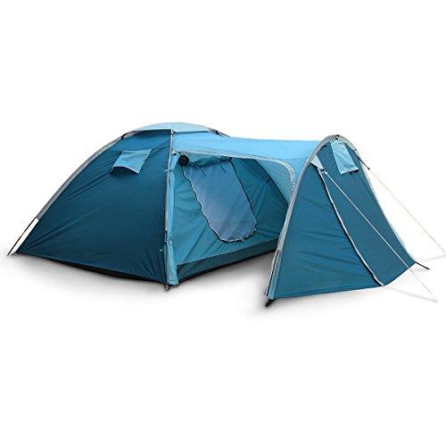 Relaxdays Familienzelt mit Vordach Zelt für 2-3 Personen