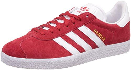 adidas Originals Gazelle S76228, Scarpe da Ginnastica Basse Uomo, Rosso (Scarlet/footwear White/gold Metallic), 42 2/3 EU