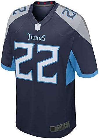 Tennessee Titans Henry Spieler Reinigungsspiel-Trikot wiederholbares Trainingsshirt f/ür Herren WOPOO American Football Jersey Rugby-Kleidung #22 Derrick Marineblau